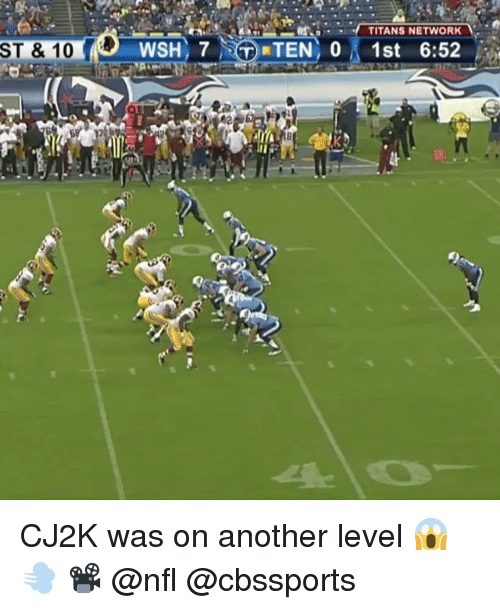 Cbssports: TITANS NETWORK  ST & 10 CJ2K was on another level 😱💨 📽 @nfl @cbssports