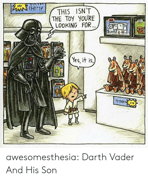 Darth Vader: tleiHIM  THE TOY YOURE  LO0KING FOR...  THIS ISN'T  Yes, it is.  HAIS awesomesthesia:  Darth Vader And His Son