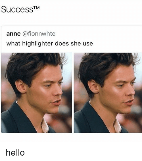 Hello, Memes, and 🤖: TM  anne @fionnwhtee  what highlighter does she use hello