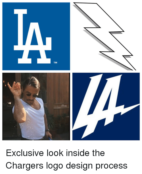 tm exclusive look inside the chargers logo design process 11816839 🔥 25 best memes about chargers logo chargers logo memes
