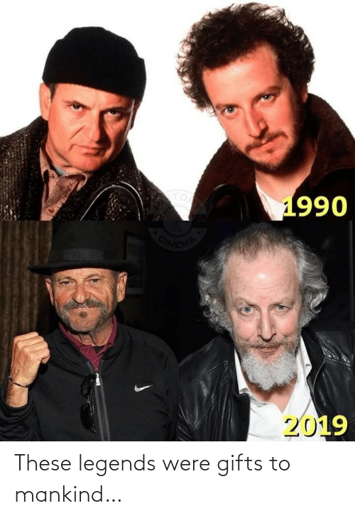 legends: TO  1990  ONEMA  2019 These legends were gifts to mankind…