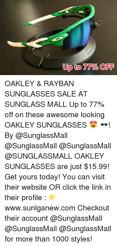 oakley sunglasses sale today only  click, sports, and ups: to 77% off up oakley & rayban sunglasses