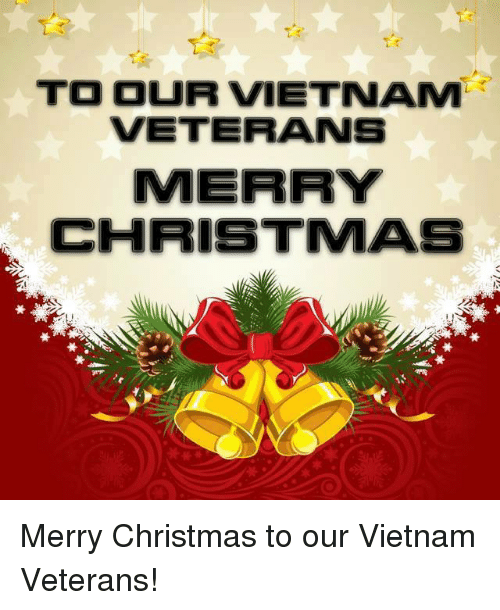 Christmas, Memes, and Merry Christmas: TO OUR VIETNAM  VETERANS  MERRY  CHRISTMAS Merry Christmas to our Vietnam Veterans!