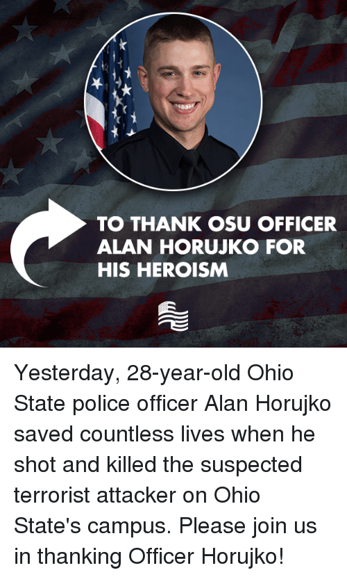 meet police officer saved ohio state university