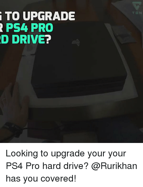 how to upgrade ps4 pro hard drive