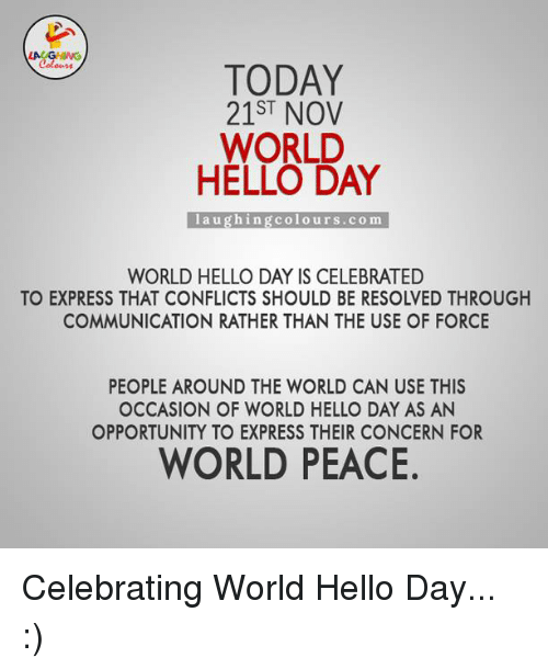World Hello Day: Funny World Peace Memes Of 2017 On SIZZLE