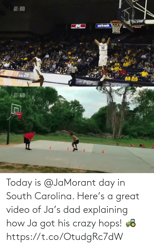 hops: Today is @JaMorant day in South Carolina.   Here's a great video of Ja's dad explaining how Ja got his crazy hops! 🚜    https://t.co/OtudgRc7dW
