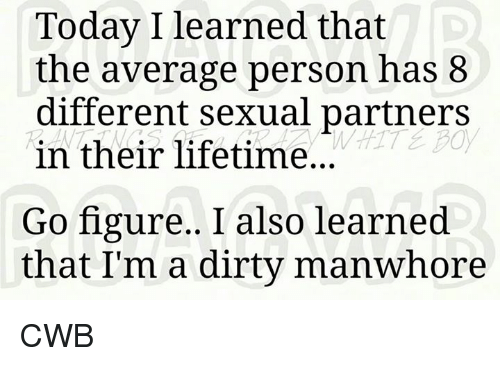 Average Sexual Partners In A Lifetime