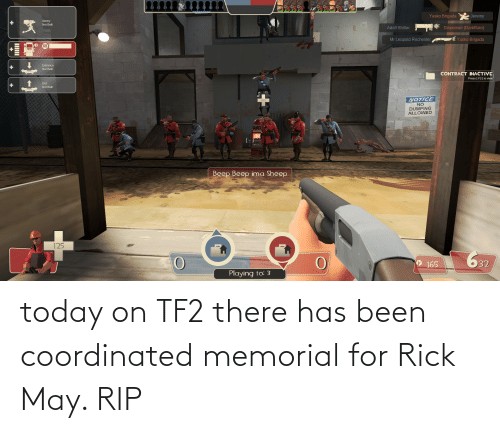 Memorial: today on TF2 there has been coordinated memorial for Rick May. RIP