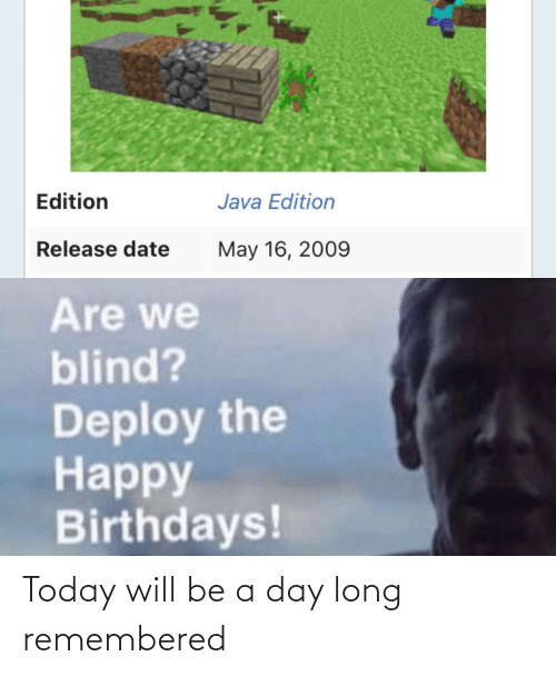 Will Be: Today will be a day long remembered