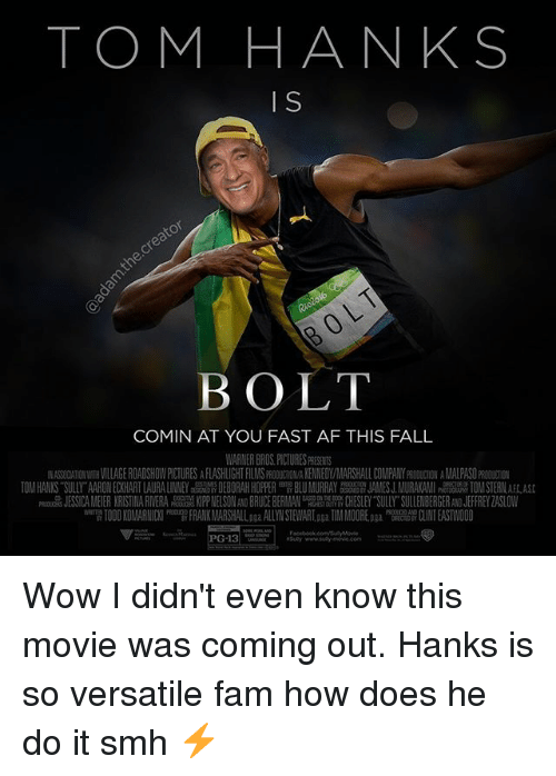 tom hanks o bolt comin at you fast af this fall warner bros pictures presents ra 0ciationwith. Black Bedroom Furniture Sets. Home Design Ideas