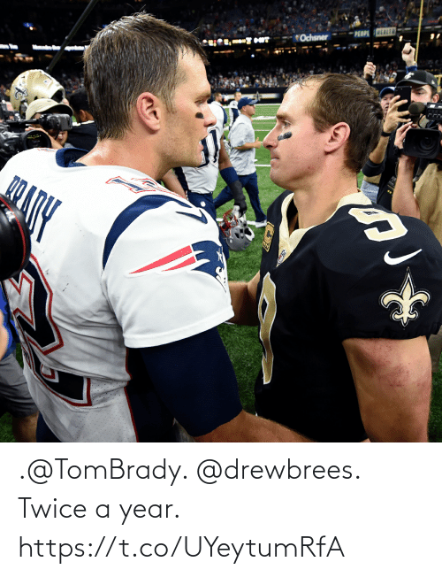 Twice: .@TomBrady. @drewbrees. Twice a year. https://t.co/UYeytumRfA
