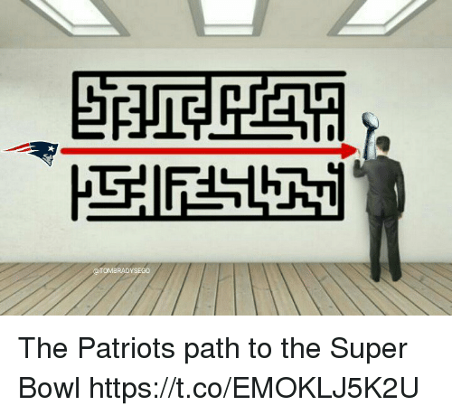 Memes, Patriotic, and Super Bowl: TOMBRADYSEGO The Patriots path to the Super Bowl https://t.co/EMOKLJ5K2U