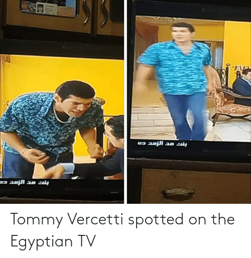 Egyptian: Tommy Vercetti spotted on the Egyptian TV