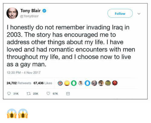 now choose to live as a gay man