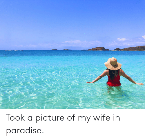 Picture Of My Wife: Took a picture of my wife in paradise.