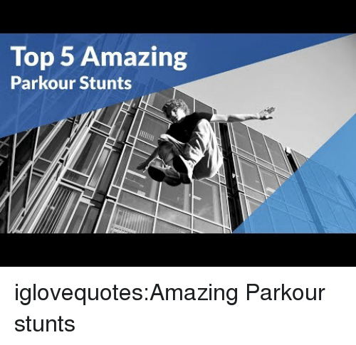 Stunts: Top 5 Amazing  Parkour Stunts iglovequotes:Amazing Parkour stunts