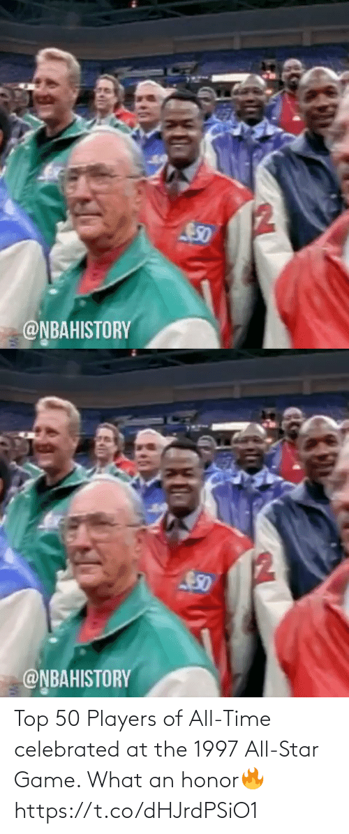 All Time: Top 50 Players of All-Time celebrated at the 1997 All-Star Game. What an honor🔥 https://t.co/dHJrdPSiO1
