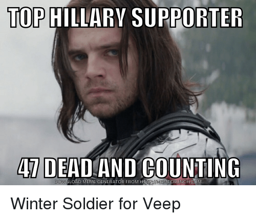 Funny Meme Generator Pictures : Top hillary supporter dead and counting ownload meme