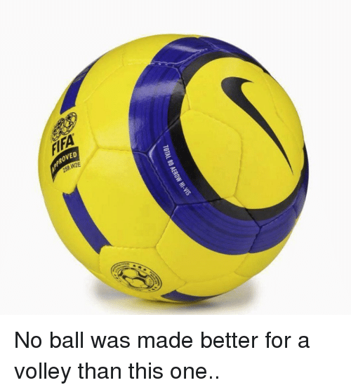 No Balls: TOTAL 90 AEROw HI-vis No ball was made better for a volley than this one..