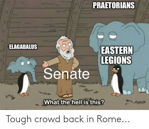 crowd: Tough crowd back in Rome...