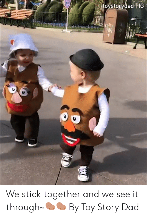 Stick Together: toystorydad   IG  H We stick together and we see it through~🥔🥔  By Toy Story Dad