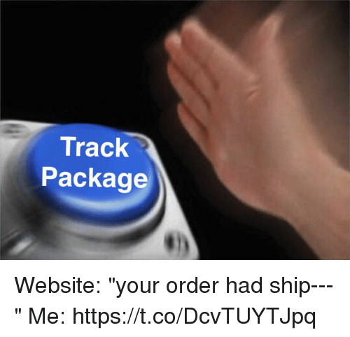 "Girl Memes, Website, and Ship: Track  Package Website: ""your order had ship---""  Me: https://t.co/DcvTUYTJpq"