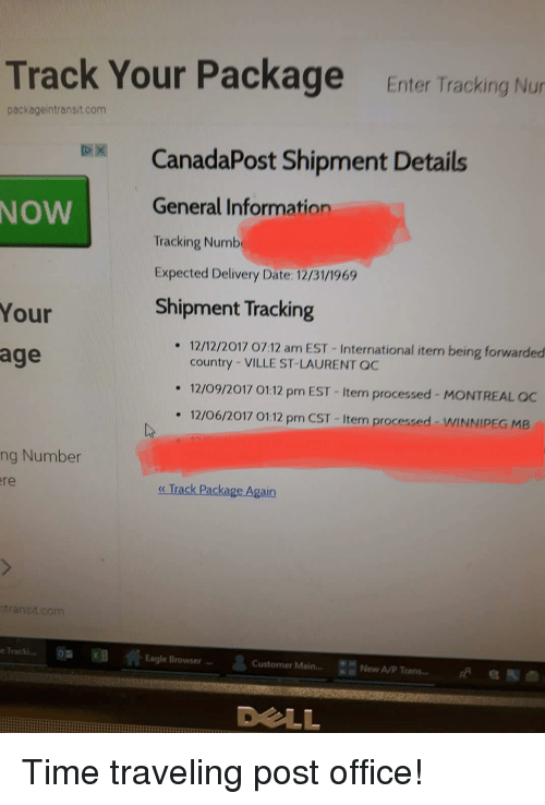 track your package enter tracking nu packageintransitcom canadapost shipment details general. Black Bedroom Furniture Sets. Home Design Ideas