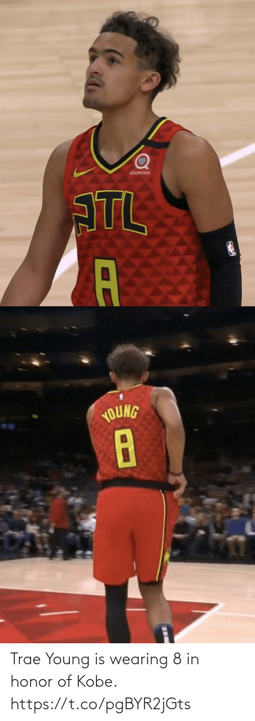 honor: Trae Young is wearing 8 in honor of Kobe. https://t.co/pgBYR2jGts