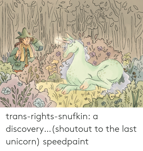 discovery: trans-rights-snufkin:  a discovery…(shoutout to the last unicorn) speedpaint