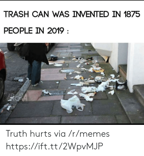 trash can: TRASH CAN WAS INVENTED IN 1875  PEOPLE IN 2019 Truth hurts via /r/memes https://ift.tt/2WpvMJP
