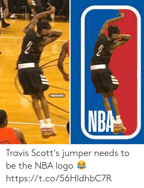 Memes, Nba, and 🤖: Travis Scott's jumper needs to be the NBA logo 😂 https://t.co/56HldhbC7R