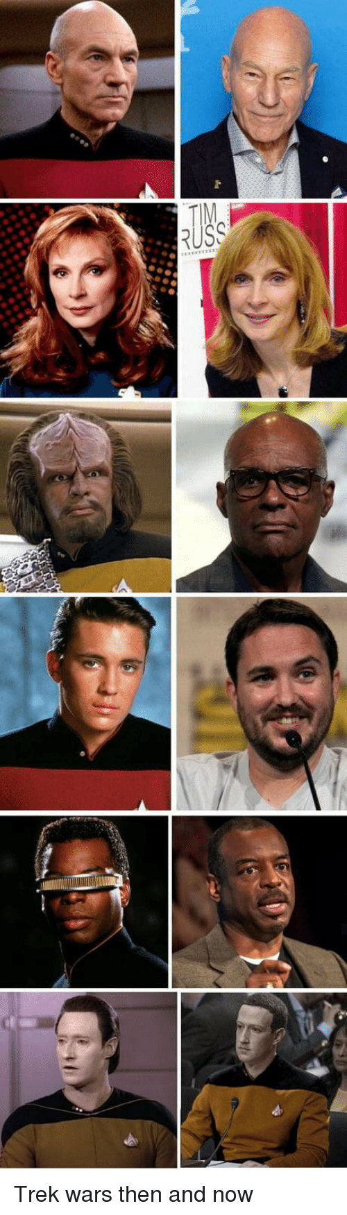 then and now: Trek wars then and now