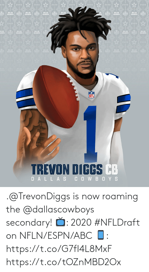 ABC: .@TrevonDiggs is now roaming the @dallascowboys secondary!  📺: 2020 #NFLDraft on NFLN/ESPN/ABC 📱: https://t.co/G7fI4L8MxF https://t.co/tOZnMBD2Ox