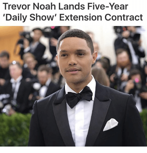 daily show: Trevor Noah Lands Five-Year  'Daily Show' Extension Contract