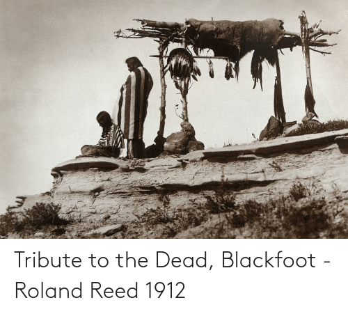 Reed: Tribute to the Dead, Blackfoot - Roland Reed 1912