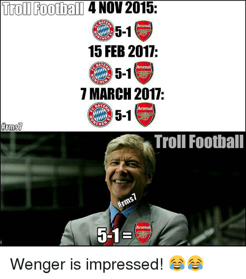 Funny Wenger Memes of 2017 on SIZZLE | Memedeporte Funny Football Trolls 2017