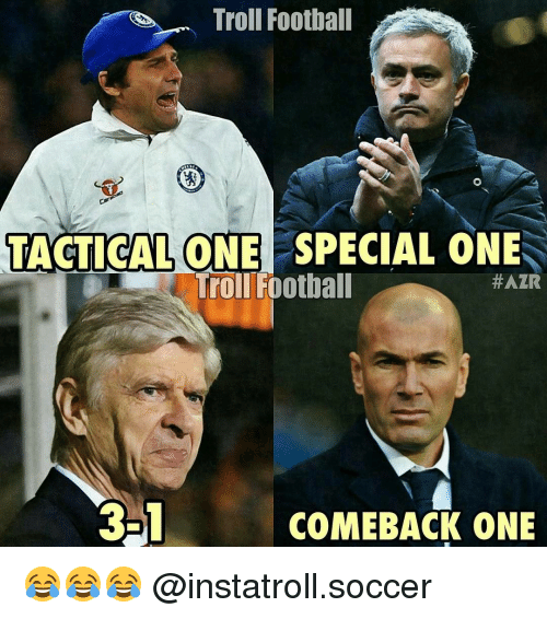 special one: Troll Football  TACTICAL ONE SPECIAL ONE  Troll Football  #AZR  3-1  COMEBACK ONE 😂😂😂 @instatroll.soccer