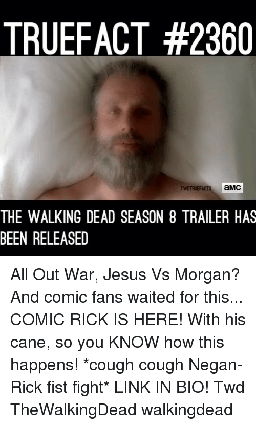 truefact 2360 s amc the walking dead season 8 trailer has been released all out war jesus vs. Black Bedroom Furniture Sets. Home Design Ideas