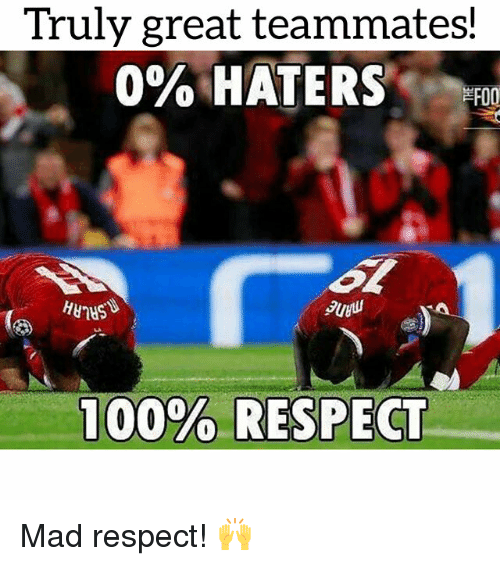 Respect, Soccer, and Sports: Truly great teammates!  0% HATERS , 00  PUyu Mad respect! 🙌