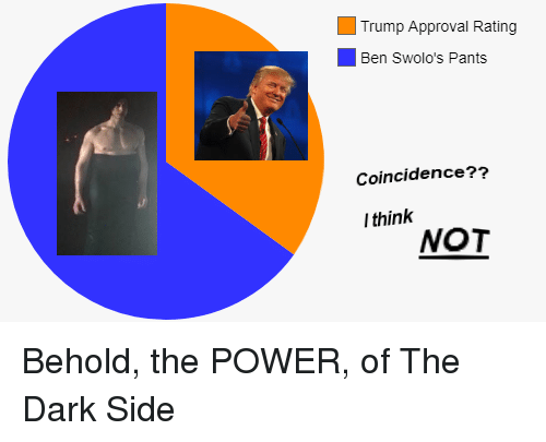 Trump Approval Rating: Trump Approval Rating  Ben Swolo's Pants  Coincidence??  l think  NOT