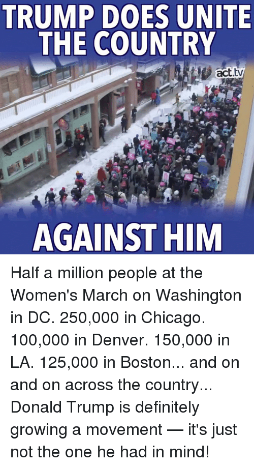 the womens march in washington dc against president donald trump Hundreds of thousands of women came to washington, dc to protest against  president trump's policies cnet/marguerite reardon the idea.
