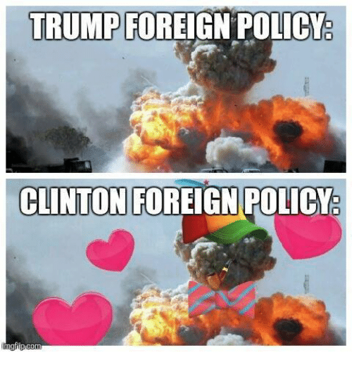 Trump: TRUMP  FOREIGN POLICY  CLINTON FOREIGN POLICY