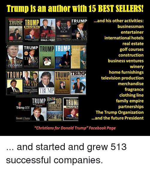 Search best donald trump memes on for Donald trump favorite books