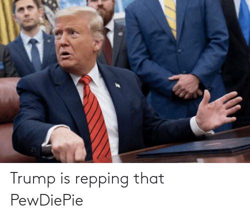 repping: Trump is repping that PewDiePie