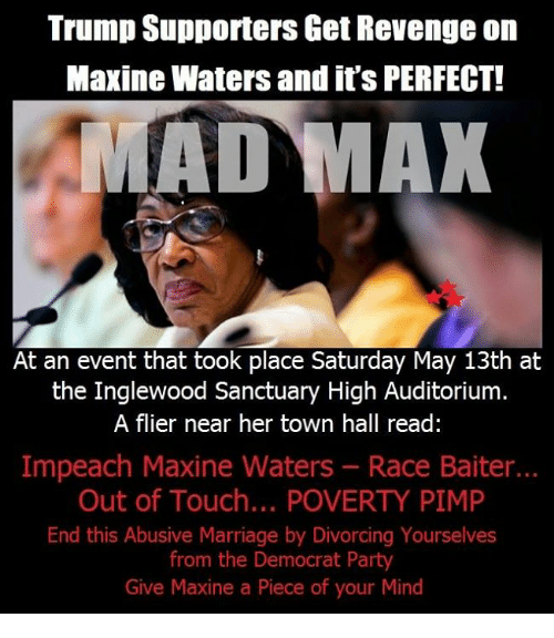 Quotes About Anger And Rage: What Should Maxine Waters Use For Her Campaign Slogan