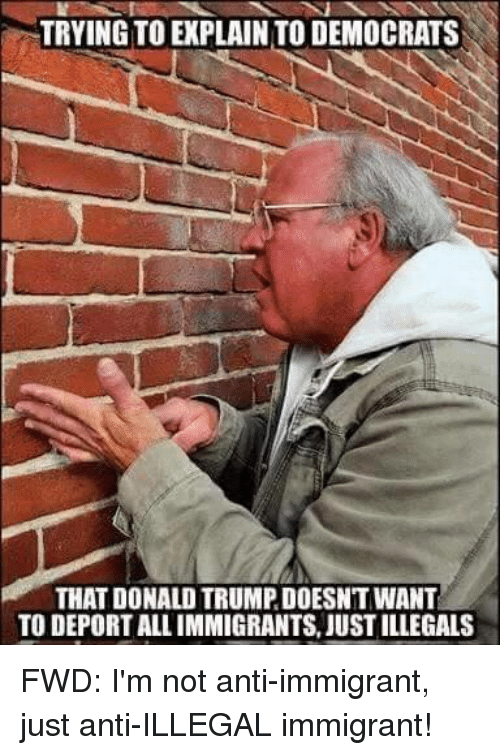 trying to explain to democrats that donald trumpdoesnt want to 13304531 trying to explain to democrats that donald trumpdoesnt want to,Anti Immigration Memes