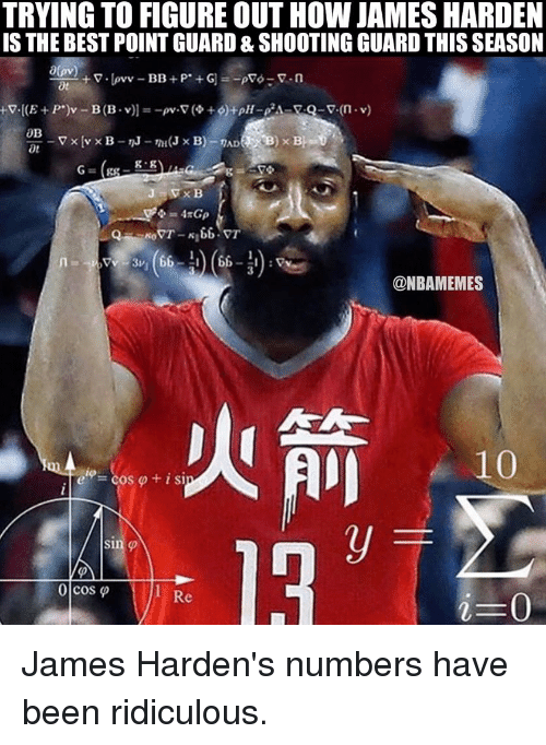 trying to figureout how james harden is the best point 6011516 search houston rockets memes on me me,Harden Memes