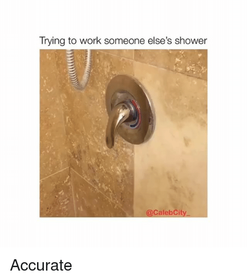Shower, Work, and Accurate: Trying to work someone else's shower  @CalebCity Accurate