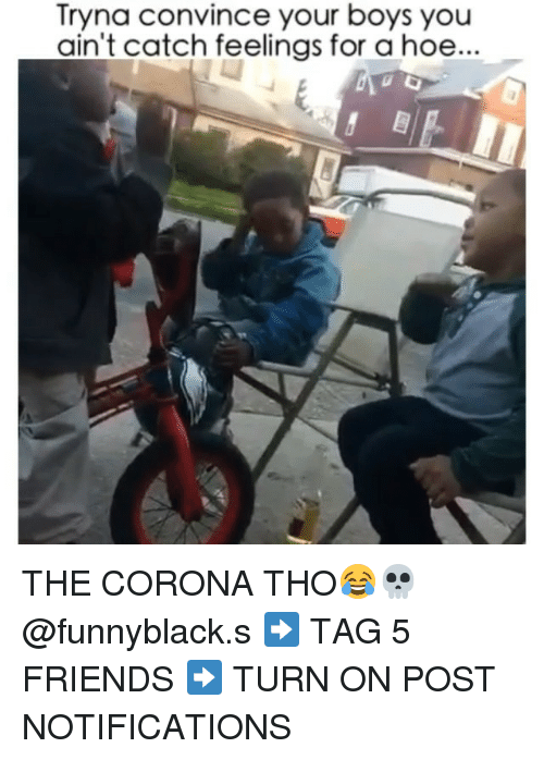 Dank Memes: Tryna convince your boys you  ain't catch feelings for a hoe... THE CORONA THO😂💀 @funnyblack.s ➡️ TAG 5 FRIENDS ➡️ TURN ON POST NOTIFICATIONS
